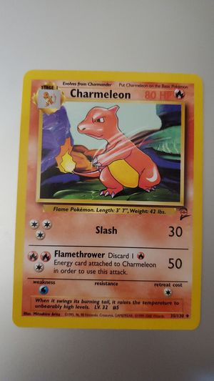 Vintage rare mint Pokemon Charmeleon for Sale in Raleigh, NC