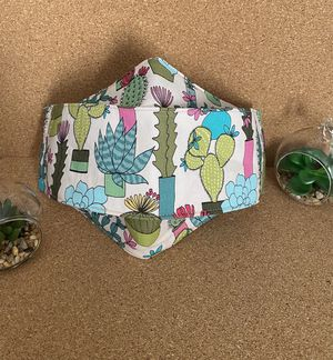 3D Style Adult Face Mask Succulent Plant Print for Sale in Oceanside, CA