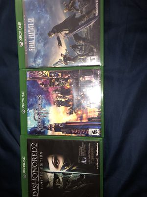Dishonored 2, kingdom hearts 3, final fantasy XV for Sale in Sacramento, CA