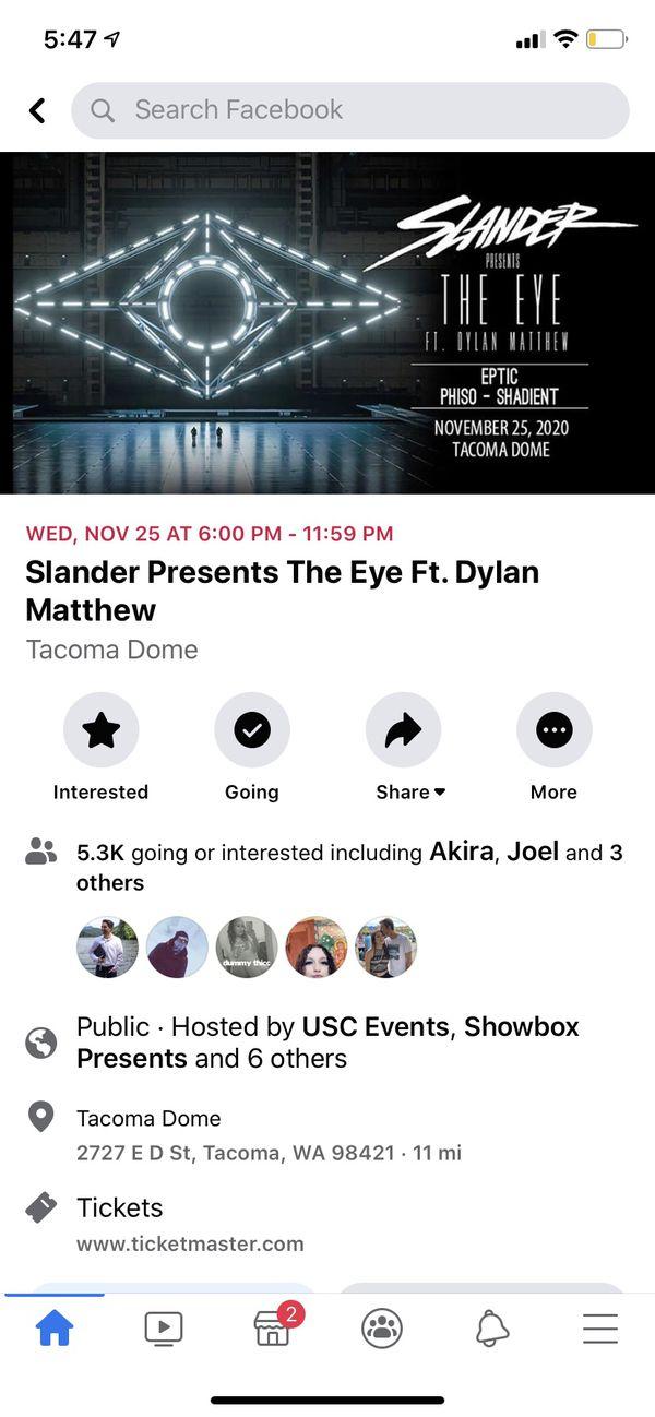 Slander and Dylan Mathew tickets