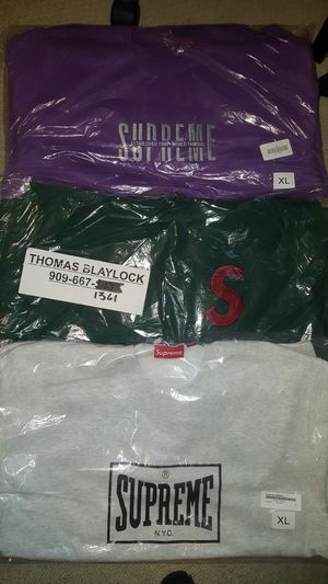 Supreme sweaters sweatshirts size xl for Sale in Upland, CA