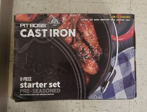 Pit boss cast iron 6 piece set for Sale in Tacoma, WA