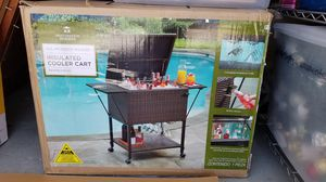 All weather wicker insulated cooler cart (new in box) for Sale in Las Vegas, NV