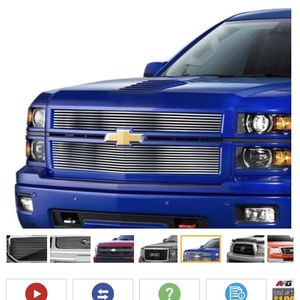 Billet Grills In The Pics You Can See What Fits Your Truck Make Model Year Tge Brand Is Carriage Works All Brand New In Boxs for Sale in San Bruno, CA
