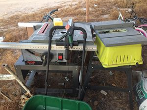 Table saws and van ladder rack for Sale in Tonopah, AZ