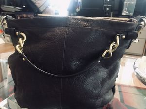 Black leather coach hobo bag. for Sale in Los Angeles, CA