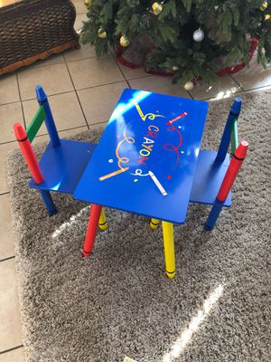 Child table with 2 chairs for Sale in Riverside, CA