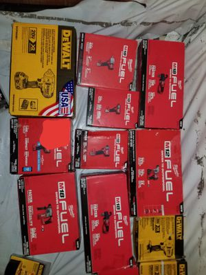 Milwaukee and Dewalt battery powered hand tools BRAND NEW for Sale in Seattle, WA