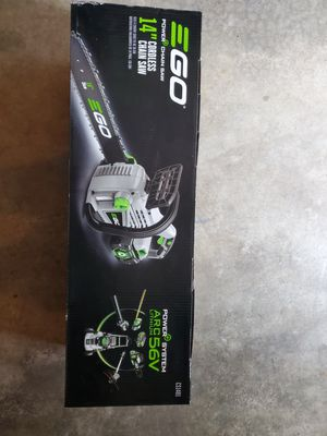 EGO 14 in. 56-Volt Lithium-ion Cordless Chainsaw with 2.0Ah Battery and Charger Included for Sale in Renton, WA