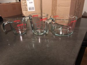 Set of Pyrex measuring cups for Sale in San Francisco, CA