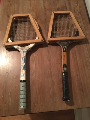 Vintage SNG Pakistan and Regent Contender wooden tennis rackets for Sale in Raleigh, NC