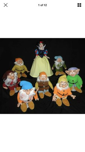Disney Snow White and seven dwarfs porcelain dolls for Sale in Modesto, CA