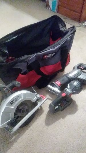 Porter cable 18V power tool set (new only used one time) for Sale in Perkasie, PA