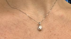 "Diamond Pendant with 16"" chain for Sale in Wenatchee, WA"