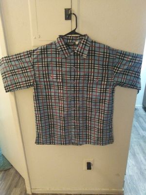 Burberry mens button up for Sale in Las Vegas, NV
