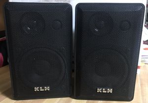 Pair of KLH Audio Systems 970A Speakers Black EUC for Sale in Glenarden, MD