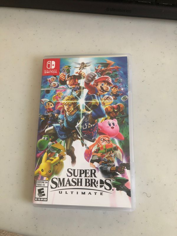 Nintendo Switch w Joycons and Super Smash Bros, dock, charger and HDMI Cable