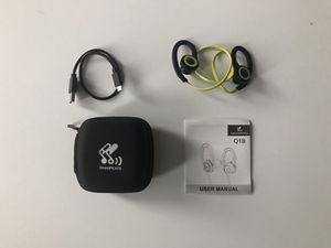 Bluetooth headphones with mic, SoundPeats Q18 for Sale in New York, NY