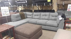 Grey fabric sectional couch for Sale in Portland, OR