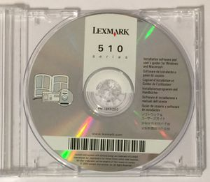 Lexmark 510 Series Software CD-Rom for Sale in Molalla, OR