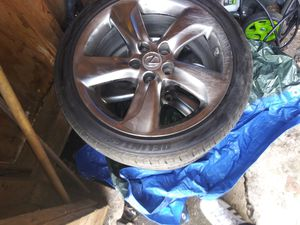 18 inch lexus rims with brand new tires and tpms sensors for Sale in Columbus, OH
