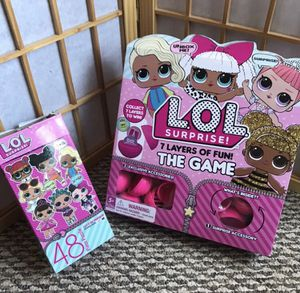 LOL Doll puzzle and board game for Sale in Palmdale, CA