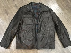 Tommy Hilfiger Men's Black Leather Coat, size XXL for Sale in Rockville, MD