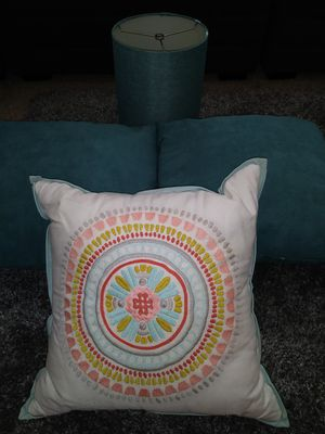 Pillows & lamp shade for Sale in Fresno, CA