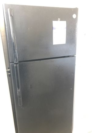 Top freezer black ge refrigerator for Sale in Denver, CO