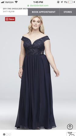 Navy Plus Size Prom Dress for Sale in Peoria,  IL