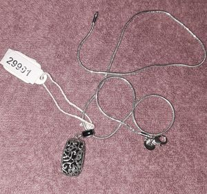 Sterling silver necklace and charm NWT for Sale in Indianapolis, IN