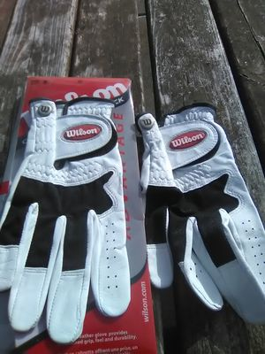 Two (2) Wilson Cabretta Small Right hand Golf Glove (for left handed player) for Sale in Silverdale, WA