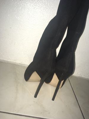 Classic Over The Knee Thigh High Stiletto Heel Boot Slouch for Sale in SUNNY ISL BCH, FL