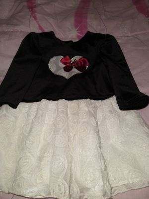 Baby Girl Holiday Dress Black White Flowered 6-9 moths for Sale in Coral Springs, FL