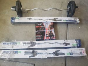 Weights curl bar. Olympic for Sale in Sanger, CA
