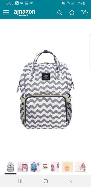 Swiggle grey and white large diaper bag for Sale in Bell Gardens, CA
