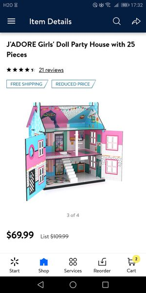 J'Adore Girls' Doll Party House with 25 Pieces for Sale in Columbus, OH