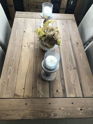 Brand new hand crafted Farmhouse table. Chairs not included for Sale in Boiling Springs, SC