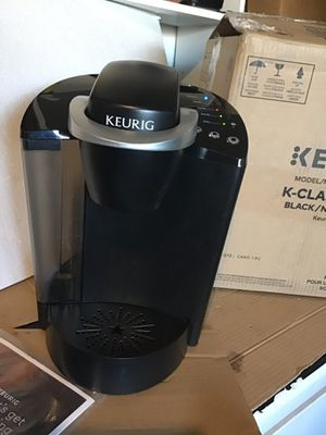 Keurig K50 classic black k cup single serve coffee maker open box excellent condition in original packaging. Never used for Sale in Las Vegas, NV