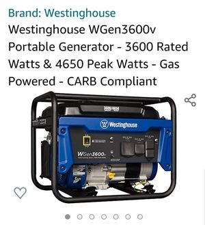 Westinghouse 3600v Generator for Sale in Niagara Falls, NY