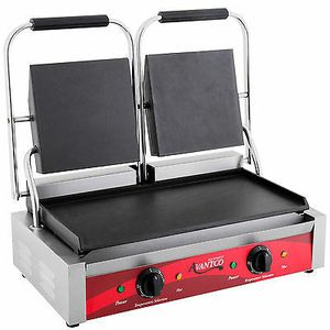 Avantco P85S Double Smooth Top & Bottom Commercial Panini Sandwich Grill Press for Sale in Oakland Park, FL