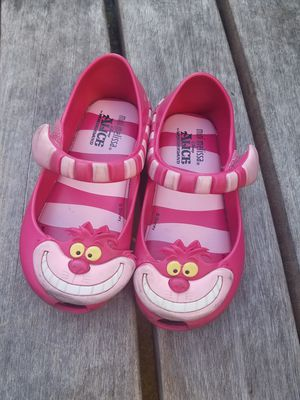 Girls shoes size 7 toddler Alice in Wonderland Cheshire cat pink toddler for Sale in Seattle, WA