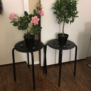 Two Side Tables And Fake Plants for Sale in Beaverton, OR