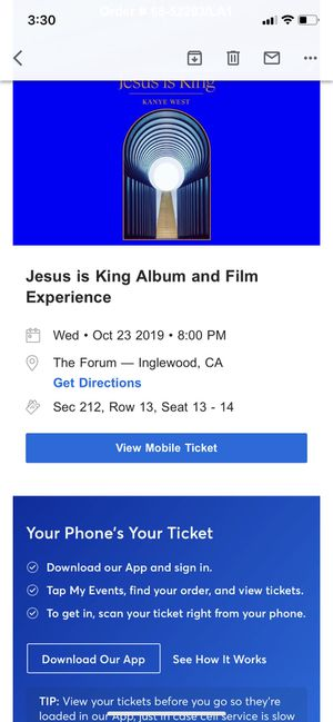 Kanye West Inglewood concert tickets for Sale in Inglewood, CA