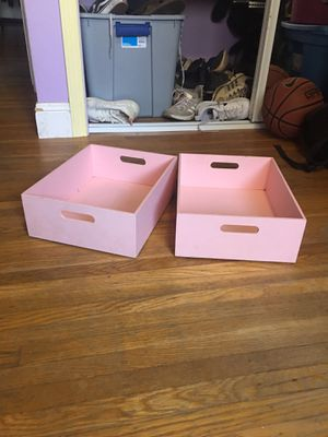 Two pink storage containers for Sale in San Jose, CA