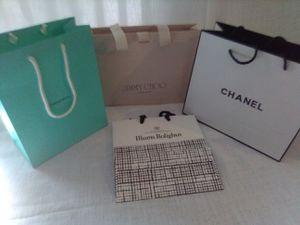Chanel, Tiffany & Jimmy Choo Shopping Bags for Sale in Houston, TX