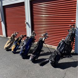 Seven bags of golf stuff for Sale in Springfield,  VA
