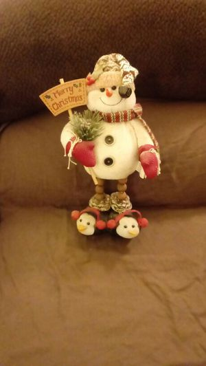 Snowman Holding a Sign for Sale in OH, US