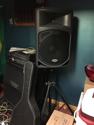 Qty:2 Samson Db500a Active PA speakers. Guitar bass drums for Sale for sale  New Brunswick, NJ