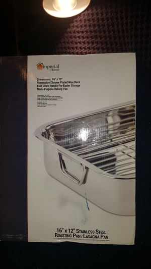 "16"" Stainless Steel Heavy Duty Roasting Pan with Rack for Sale in Atlanta, GA"